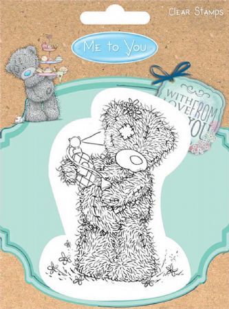 Me To You Teddy Bear Spraying Scent Clear Rubber Stamp